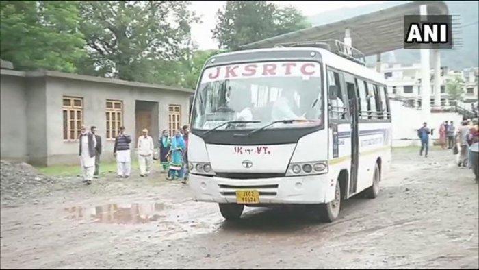 ANI/Twitter photo of the Cross-LoC bus