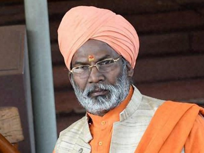 Sakshi Maharaj was seen smiling in the video, that went viral on the social networking sites, at the funeral procession of Ajit Kumar Azad, in Uttar Pradesh's Unnao district, about 60 km from here, on Saturday.