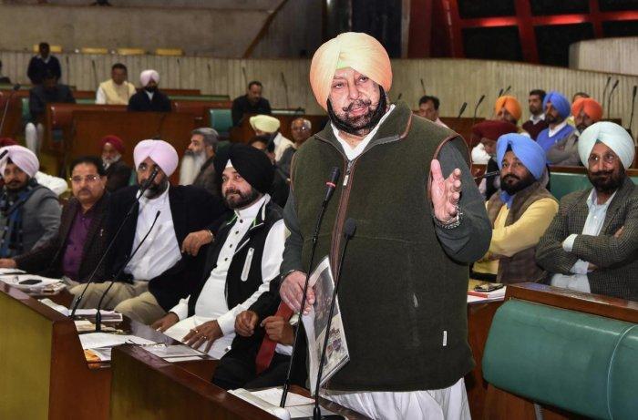 Punjab Chief Minister Captain Amarinder Singh. (PTI Photo)