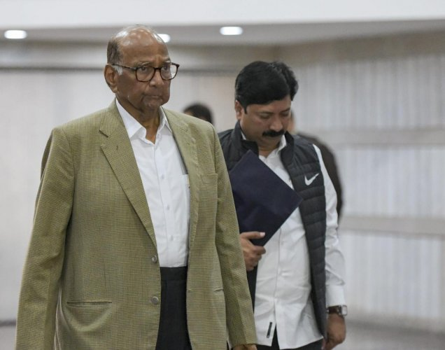 Nationalist Congress Party (NCP) chief Sharad Pawar arrives for an all-party meeting on the Pulwama terror attack at Parliament House, in New Delhi February 16, 2019. PTI