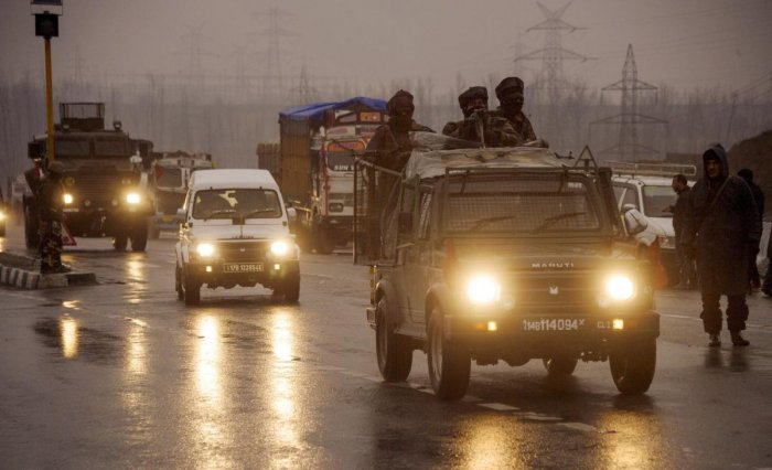 """As the Ministry of Home Affairs (MHA) on Sunday declared that convoy movement of security forces by road will continue in Jammu and Kashmir, security officials in Srinagar have agreed to """"fine-tune"""" the standard operating procedure (SOP) for the movement of forces' vehicles. PTI file photo"""