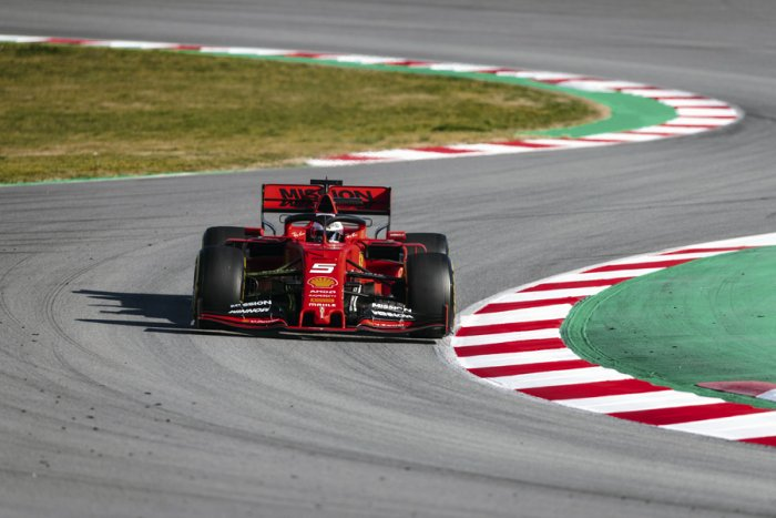 Sebastian Vettel on day one of the first test session in Barcelona. Picture credit: Scuderia Ferrari