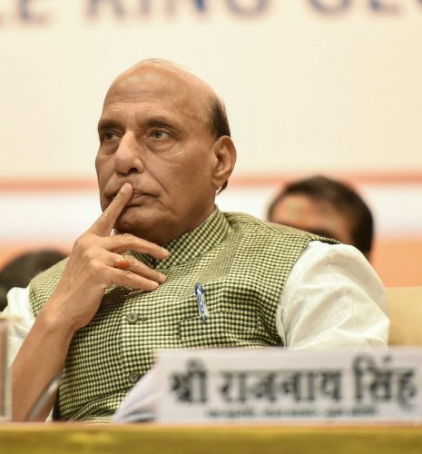 During the meeting, the home minister was briefed about the prevailing security situation in Jammu and Kashmir, including along the Indo-Pak border, a home ministry official said. PTI file photo.