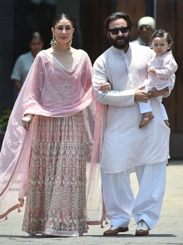 The actor said while she and husband Saif Ali Khan don't believe in stopping the paparazzi from clicking pictures of their son, the media should be a little more responsible. PTI File photo