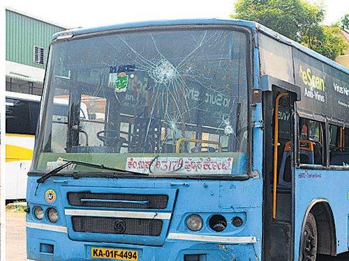 BMTC bus runs amok, kills woman