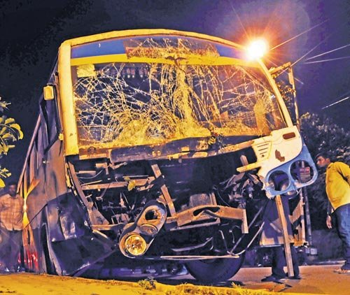Serial accident: BMTC bus driver held