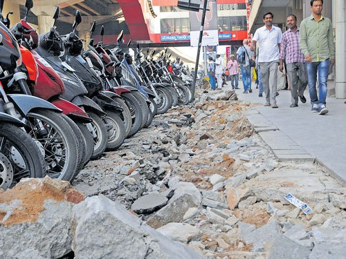 BBMP to upgrade pavements on MG Road