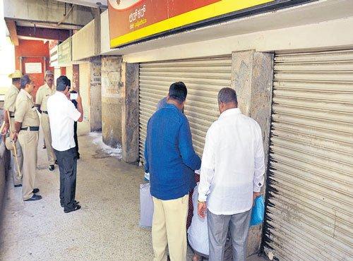 BBMP seals 18 shops over rent arrears