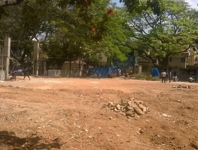 BBMP messes up playground which needed no repair