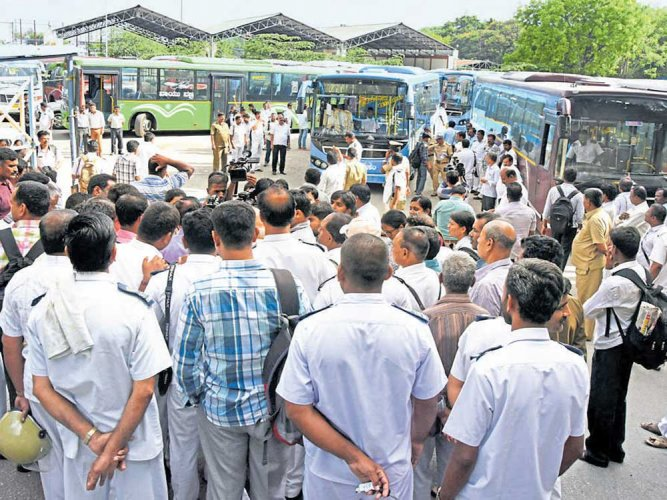 Snap strike by conductors hits BMTC AC bus services for two hours