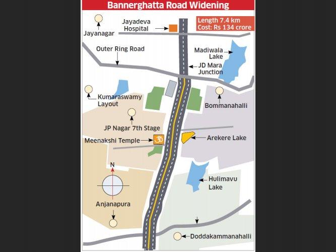 BBMP's plan: 155-foot-wide Bannerghatta Road in 18 months