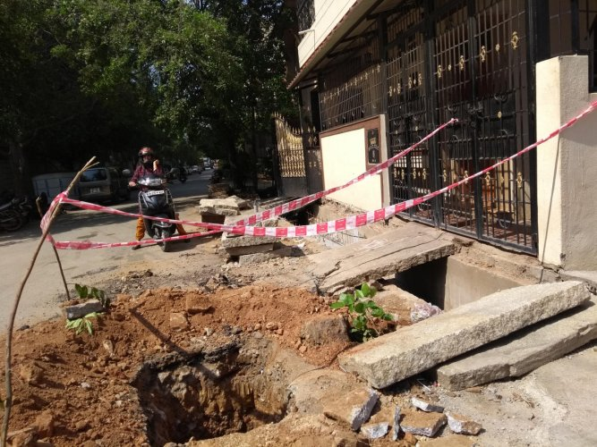 Residents left with no way out of homes as BBMP delays works on shoulder drains