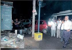 BBMP Commissioner  on a late night prowl