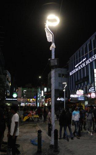 An ornamental LED streetlight on Church Street. DH file photo