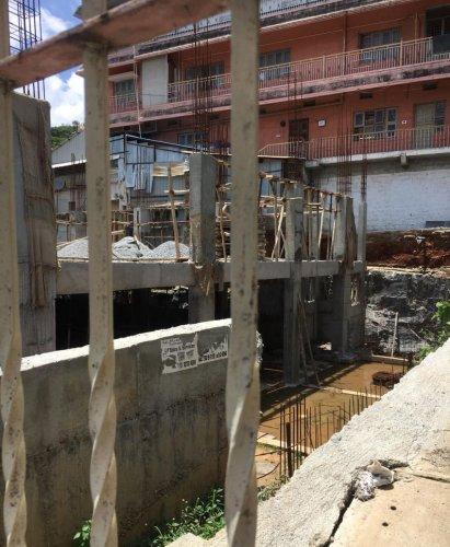 A civic amenity site in Girinagar where the Ramachandrapura math is undertaking an illegal construction. DH FILE PHOTO
