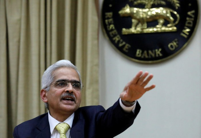 Shaktikanta Das, the new Reserve Bank of India (RBI) Governor, gestures as he attends a news conference in Mumbai. REUTERS