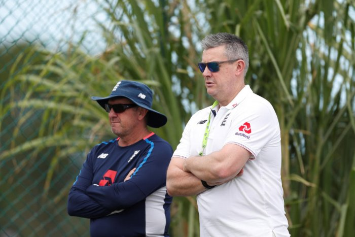 Managing director Ashley Giles (right) said England are almost certain to have one coach for all formats after Trevor Bayliss (left) completes his stint later this year. Reuters File Photo