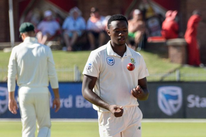 South Africa's Kagiso Rabada claimed four wickets to restrict Sri Lanka's first innings to 154 all out. AFP