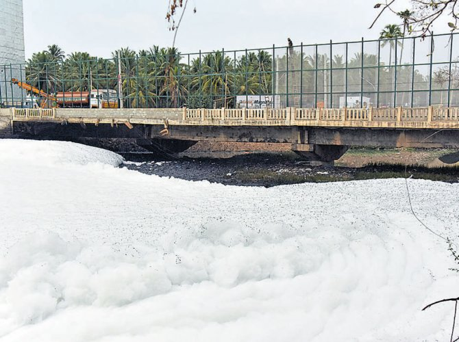 Built by the Karnataka Public Works Department (PWD) 17 years ago along state highway 35, the bridge has been experiencing severe shaking in the last few days due to heavy vehicular movement. DH file photo