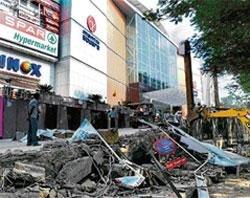 Mantri Mall ramp razed to a rump