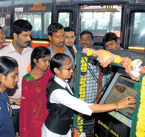 Now, kiosks provide info on BMTC buses