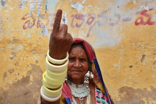 72 per cent turn-out in Telangana; poll largely peaceful