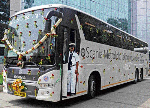 KSRTC launches Scania buses on premium routes