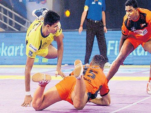 Telugu Titans tame mighty Mumbai