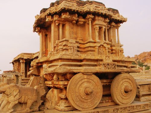 Hampi stone chariot to be recreated in roses