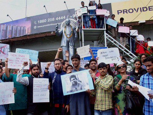 Dalit scholar issue: Protests escalate at Hyderabad University
