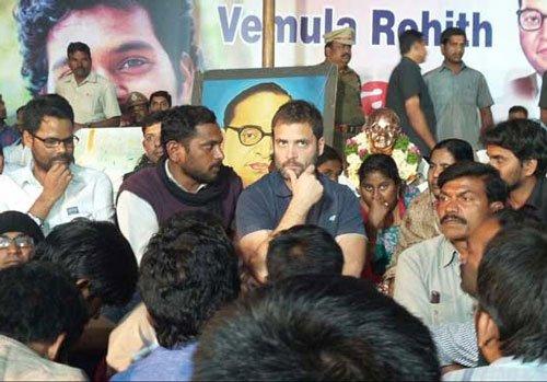 Classic politics of vulturisation: BJP on Rahul's visit to HCU