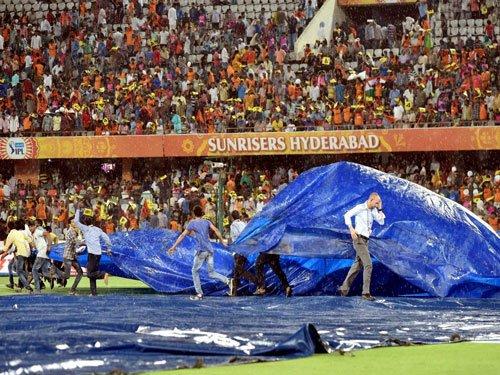 Rain delays IPL match between Hyderabad and Bangalore   Deccan Herald