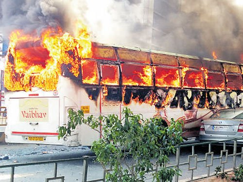 KSRTC buses gutted in arson to be put on display