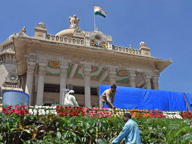 Vidhana Soudha comes alive in all its glory for diamond jubilee fete