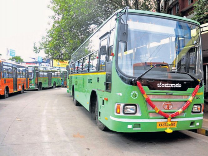 The firm Cell Propulsion has signed an agreement with the Bangalore Metropolitan Transport Corporation to work on the conversion of the buses. (DH File Photo)