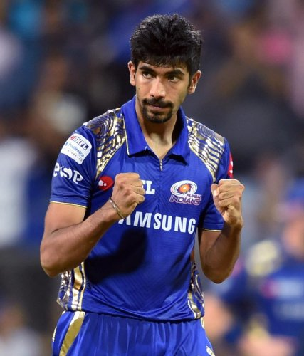 TURNING IT AROUND: Mumbai Indians' Jasprit Bumrah bowled a brilliant spell at the death to help his side snatch a close win over Kings XI Punjab. PTI