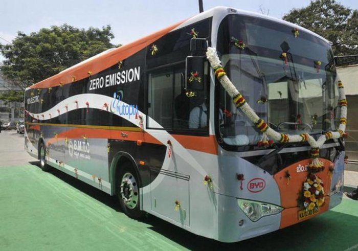 The electric bus introduced by BMTC.