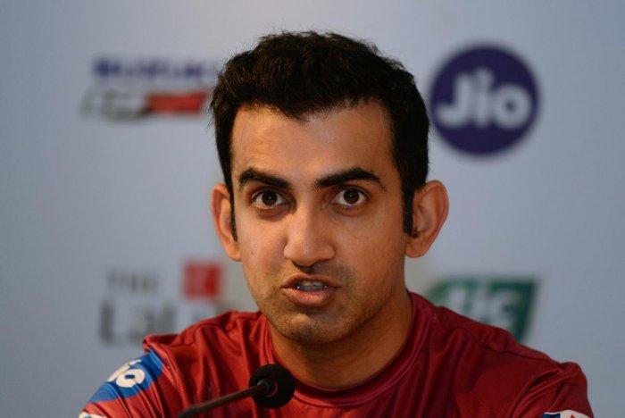 Gautam Gambhir. File photo