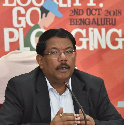 BBMP Commissioner N Manjunath Prasad said this is an initiative by the BBMP and few NGOs to create awareness among people to reduce the usage of single-use plastic. (DH Photo)