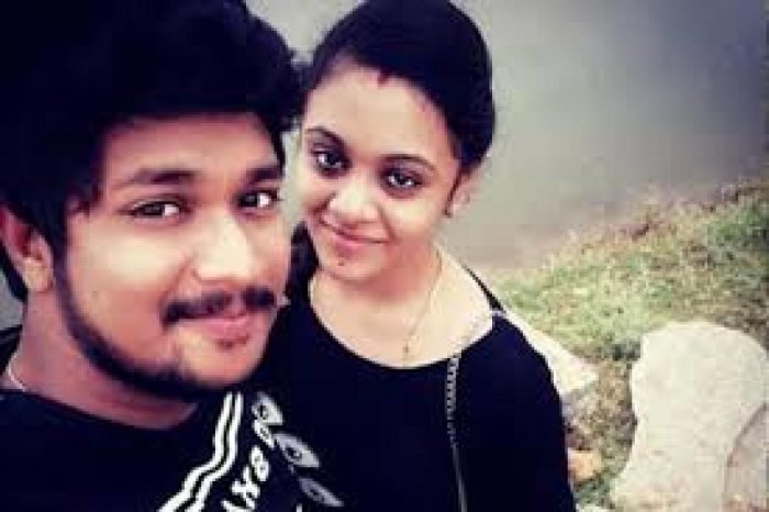 File photos of Amrutha and Pranay