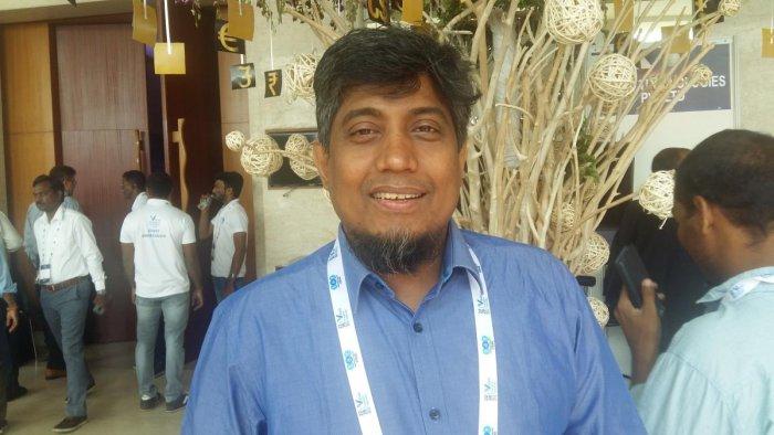 Zakir Hussain at Fintech in Vizag. DH PHOTO/ JBS Umanadh