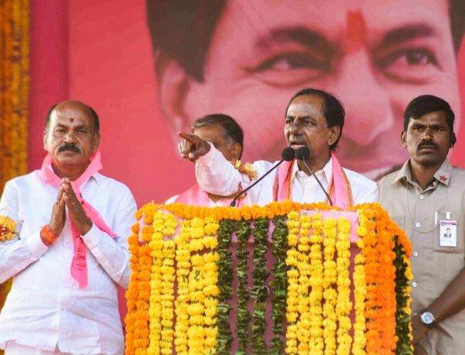 TRS president and caretaker chief minister K Chandrashekar Rao. PTI Photo