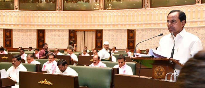 KCR presenting budget in Telangana Assembly today.