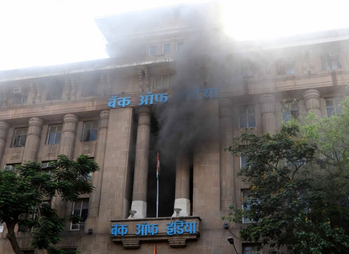 Fire breaks out at BoI building in Mumbai