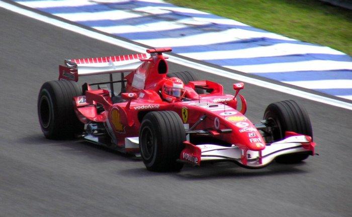 Ferrari's Michael Schumacher in the 2006 Brazilian Grand Prix. Picture credit: commons.wikimedia.org/ Morio