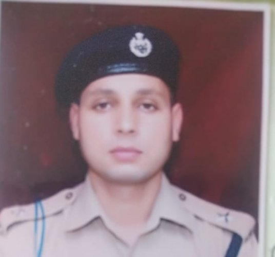Deputy Superintendent of Police Aman Kumar Thakur who lost his life in an encounter with terrorists in Tarigam, Kulgam. He was a 2011 batch KPS Officer & had been heading counter terrorism wing of J&K police in Kulgam for past 1.5 years ANI photo.