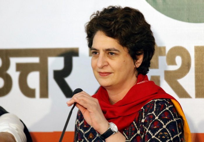 Priyanka Gandhi Vadra, who is also the in-charge of 'Poorvanchal' (eastern UP), would be taking on both the BJP and Akhilesh, whose party had been given a majority of seats in the region in the SP-BSP alliance. Reuters file photo