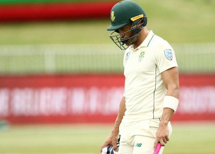 DOWN AND OUT: South African skipper Faf du Plessis said one big defeat shouldn't push the selectors to make drastic changes. AFP File Photo