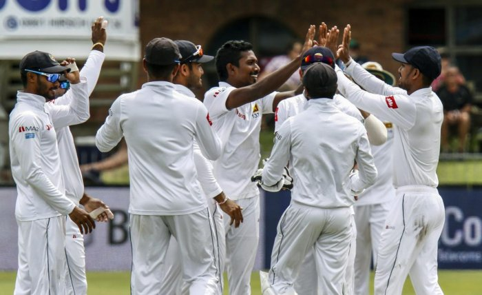 INCREDIBLE: Sri Lanka became the first Asian nation to win a Test series in South Africa. AP/PTI File Photo
