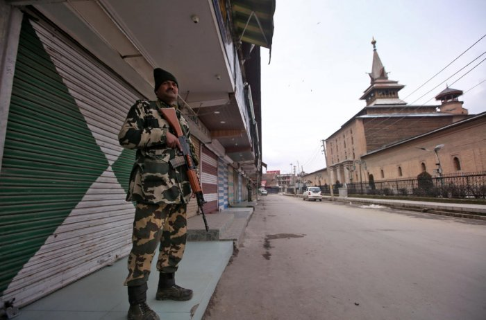 Restrictions under Section 144 CrPc have been imposed in five police station areas of Srinagar, a police official said. (Reuters Photo)
